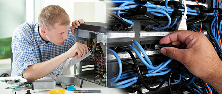 Lombard Illinois On Site PC & Printer Repair, Networking, Voice & Data Cabling Contractors